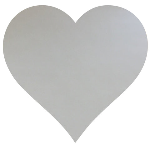 Large Metallic Silver Heart Vinyl Wall Decal Wall Dressed Up