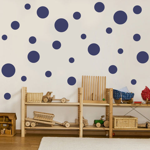 23 Multi sized Solid Dot Wall Decals available in 12 Colors - Wall Dressed Up - 1