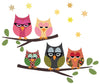 Five Owls on Branch Wall Decals - Wall Dressed Up - 3