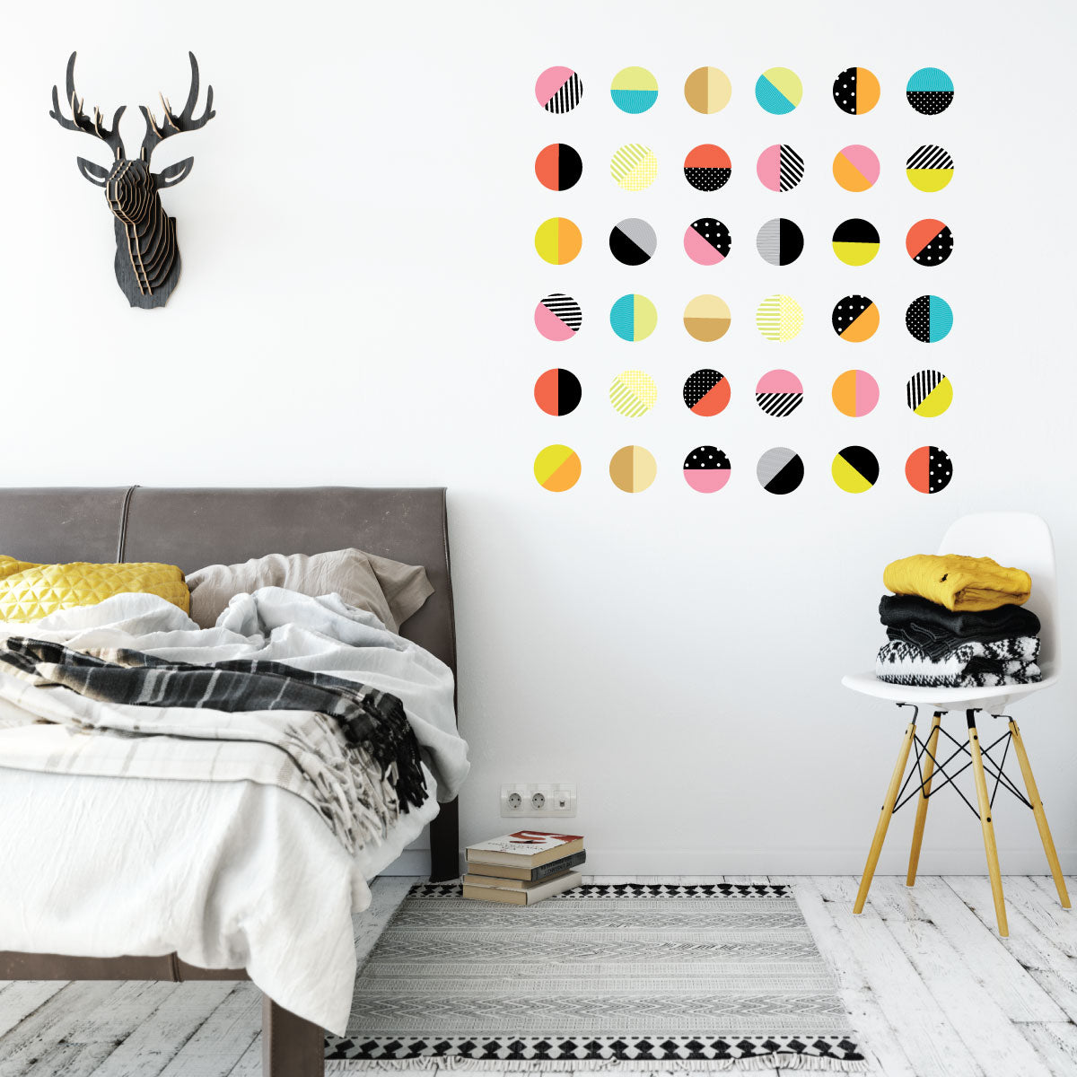 Color Pop Polka Dot Wall Decals 36 Patterned Wall Stickers Reusable Fabric Decals  sc 1 st  Wall Dressed Up & Color Pop Polka Dot Wall Decals 36 Patterned Wall Stickers Reusable