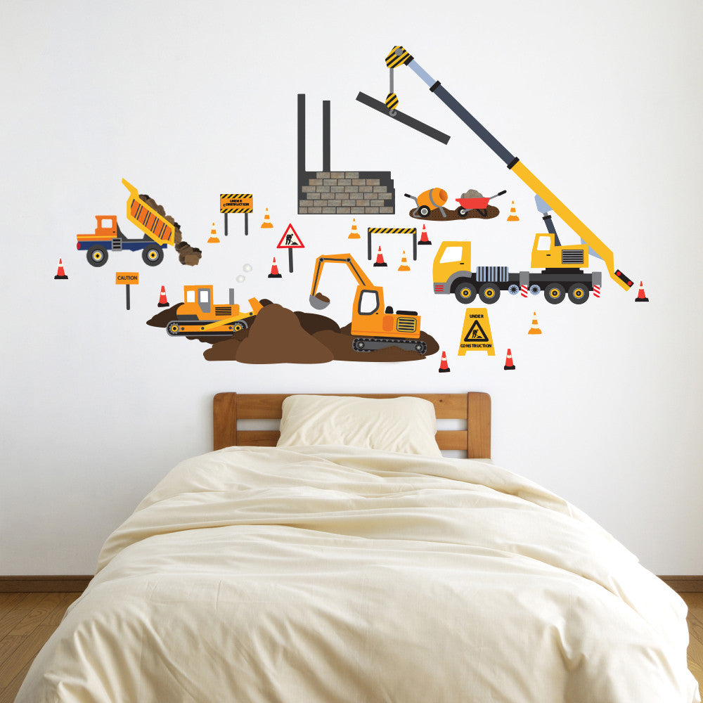 Construction site truck and vehicle wall decals wall dressed up construction site truck and vehicle wall decals wall dressed up 1 amipublicfo Gallery