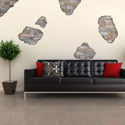 Faux Flat Stone Breakaway Wall Decals - Wall Dressed Up - 1