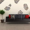 Faux Flat Stone Breakaway Wall Decals, Removable and Reusable Peel and Stick Fabric Wall Stickers - Wall Dressed Up