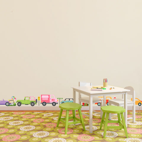 Colorful Girls Adventure Cars Wall Decals - Wall Dressed Up - 1