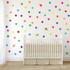 36 Rainbow Confetti Heart Wall Decals - Wall Dressed Up - 3