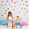 36 Sweet Confetti Solid Heart Wall Decals - Wall Dressed Up - 2