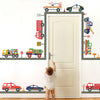 Emergency Vehicle & Truck Wall Decals with Straight Gray Road, Reusable Wall Stickers - Wall Dressed Up