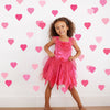 36 Pretty in Pinks Confetti Heart Wall Decals, Peel and Stick Eco-Friendly Reusable Wall Stickers - Wall Dressed Up