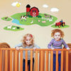 Red Barn with Farm Animals Wall Decals - Wall Dressed Up