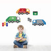 Garbage Truck and Recycling Truck Wall Decals with Gray Road, Peel and Stick Eco-Friendly Wall Decal Stickers - Wall Dressed Up - 5