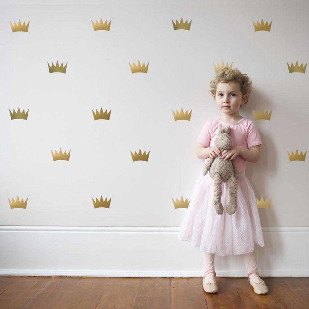 32 gold metallic princess crown vinyl wall decals wall dressed up 32 gold metallic princess crown vinyl wall decals wall dressed up 1 amipublicfo Gallery