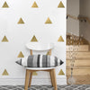 36 Large Silver  Metallic Triangle Wall Decals - Wall Dressed Up - 3