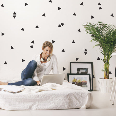 Wall Decals 120 Mini Triangle Vinyl Wall Stickers - Wall Dressed Up