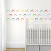 33 Sorbet Multi-color Rocking Horse Wall Decals - Wall Dressed Up - 2
