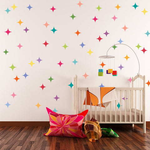 28 Multicolor Modern Diamond Wall Decals Wall Dressed Up