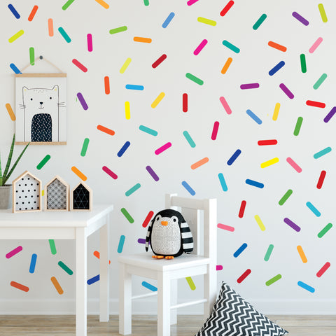 Rainbow Sprinkles Wall Stickers Confetti Wall Decals Sprinkle Wall Decals Rainbow Nursery Decals Eco Friendly Removable Wall Stickers - Wall Dressed Up