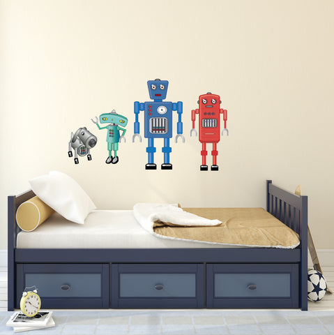 Large Robot Fabric Wall Decals, Eco-Friendly Matte Wall Stickers - Wall Dressed Up