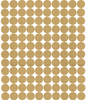 "Metallic Gold or SIlver 2"" Polka Dot Wall Stickers, Peel and Stick Dot Wall Decals - Wall Dressed Up"