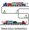 Straight and Curved Railroad Train Track Wall Decals - Wall Dressed Up