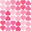 36 Pretty in Pinks Confetti Heart Wall Decals - Wall Dressed Up - 2