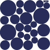 23 Multi sized Solid Dot Wall Decals available in 12 Colors - Wall Dressed Up - 2