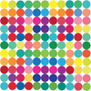 121 Mini 2 inch Rainbow Colors Polka Dot Fabric Wall Decals Repositionable, Reusable, Removable Peel and Stick - Wall Dressed Up