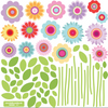 16 Spring Garden Flower Wall Decals - Wall Dressed Up - 2