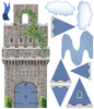 Stonewall Medieval Castle Wall Decal with Blue Turrets & Flags Wall Stickers - Wall Dressed Up