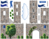 Stonewall Castle with Blue Turrets & Flags Wall Decals - Wall Dressed Up - 3