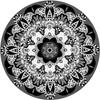 "Black and White Boho Mandala Fabric Wall Decal 24"" or 36"" - Wall Dressed Up - 2"