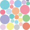 23 Multi-sized Sorbet Color Polka Dot Decals - Wall Dressed Up - 2