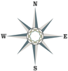 Large Neutral Nautical Compass Wall Decal - Wall Dressed Up - 3