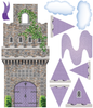 Purple Fairytale Princess Stone Castle Wall Decals with Turrets and Flags - Wall Dressed Up - 2