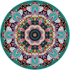"Boho Brights Mandala Fabric Wall Decal 24"" or 36"" - Wall Dressed Up - 3"