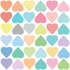 36 Multicolor Sorbet Pastel Hearts Wall Decals - Wall Dressed Up