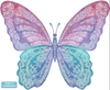 Five Watercolor Butterfly Fabric Wall Decals