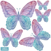 Five Watercolor Butterfly Fabric Wall Decals - Wall Dressed Up - 2