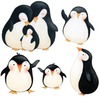Penguins at Play Wall Decals, Fabric Matte Eco-friendly Repositionable Wall Decal Stickers - Wall Dressed Up - 2