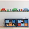 Garbage Truck and Recycling Truck Wall Decals with Gray Road, Peel and Stick Eco-Friendly Wall Decal Stickers - Wall Dressed Up - 1