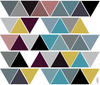 45 Modern Art Triangle Wall Decals Color 2, Eco-Friendly Peel and Stick Fabric Wall Stickers