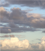 Sky with Clouds Photograph Wall Decals, Matte Removable and Repositionable