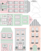 European Style Town Wall Decals, Girls Peel and Stick Wall Stickers, Eco Friendly Matte Town Decals