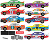 Race Car Wall Decals Straight Track 14ft, Matte Fabric Reusable Racing Decals - Wall Dressed Up