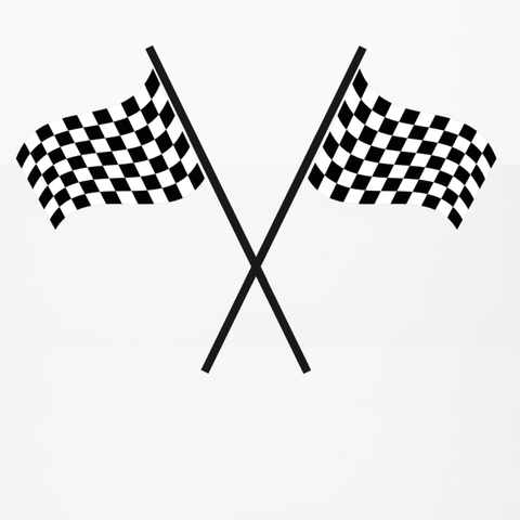 Large Racing Checkered Flags Wall Decals, Eco-Friendly Reusable Wall Stickers