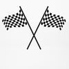 Large Racing Checkered Flags Wall Decals, Eco-Friendly Reusable Fabric Wall Stickers - Wall Dressed Up