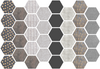 Hexagon Wall Decals, 36 Mod Textured Hexagon Decals, Honeycomb Wall Stickers - Wall Dressed Up