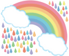 Pastel Rainbow with Raindrops Wall Decals, Rainbow Wall Decal, Nursery Wall Stickers - Wall Dressed Up