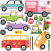 Colorful Girls Adventure Cars Wall Decals - Wall Dressed Up - 2
