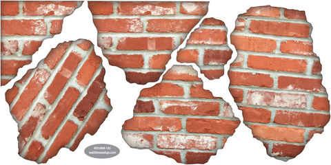 ... Faux Brick Breakaway Wall Decals   Wall Dressed Up   2 ...