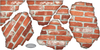 Faux Brick Breakaway Fabric Wall Decals, Peel and Stick, Eco Friendly Reusablse Wall Stickers - Wall Dressed Up